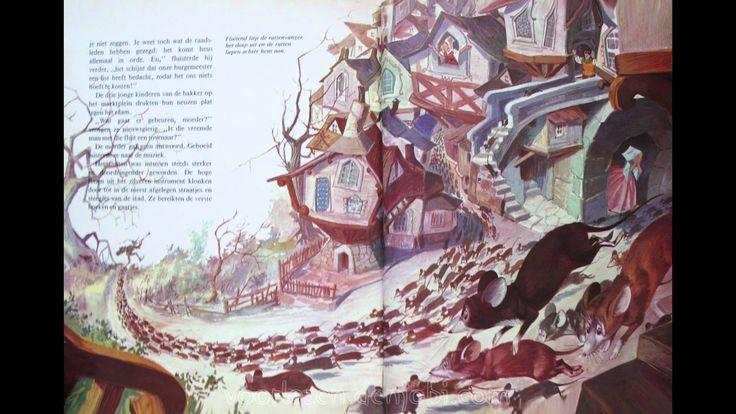 De Rattenvanger van Hamelen - Sprookje van De gebroeders Grimm met plaatjes, via YouTube.