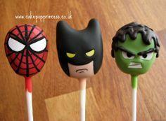 Super Heroes cake pops