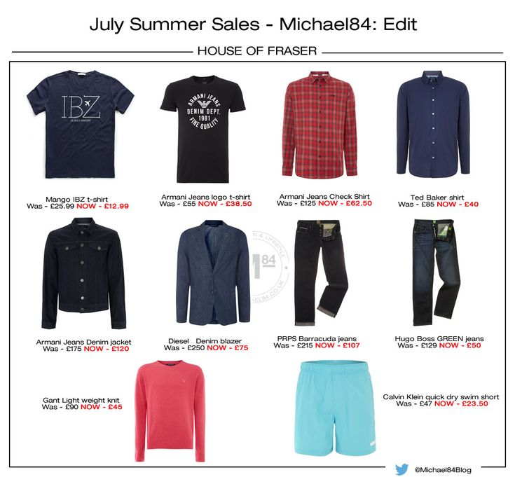 Best Of The Menswear Summer Sales - 10 Picks From House Of Fraser