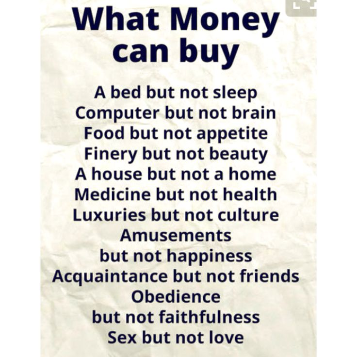 What Money Can't Buy
