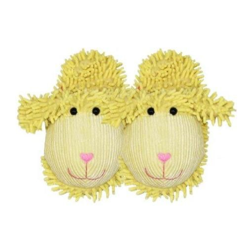 Spa Sister Just for Fun Plush Spa Slippers, Lamb