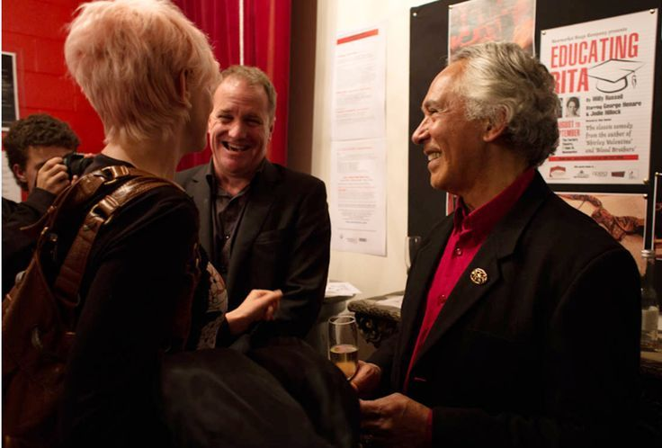 With George Henare at the Newmarket Opening of 'Educating Rita' = 2012
