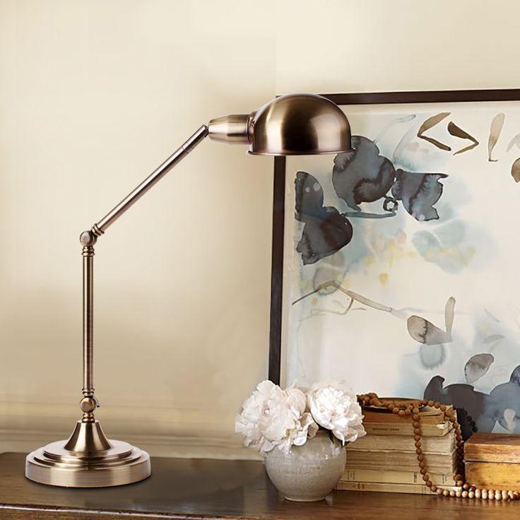 American vintage античная медь настольная лампа настольная лампа настольная лампа спальня прикроватные исследование все медные декоративные лампы