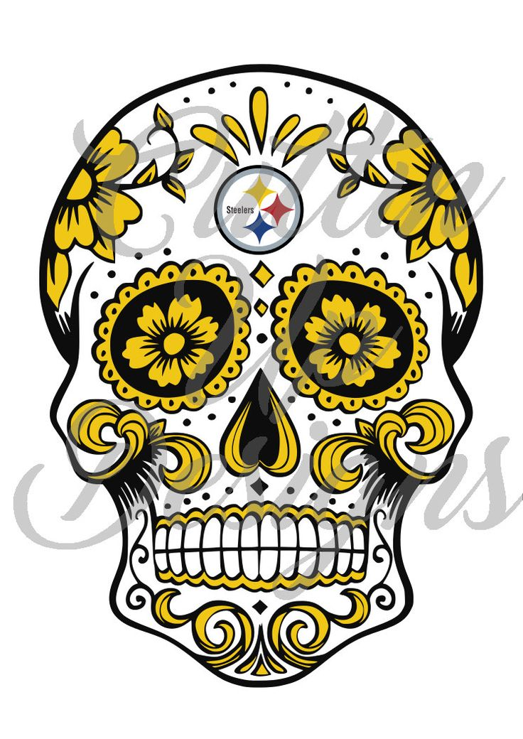 Pittsburgh Steelers Sugar Skull Day of the Dead SVG File