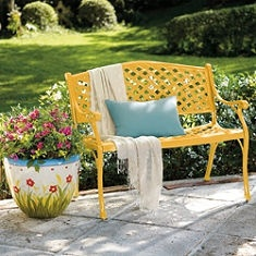 A brightly painted bench for the front porch?...Perhaps?