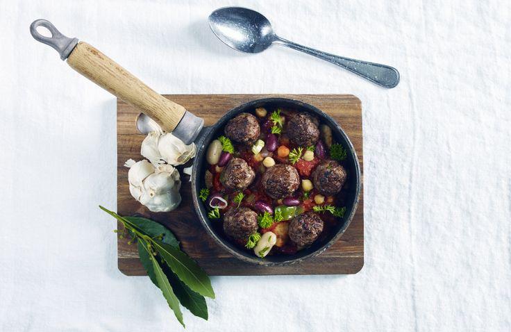 Spanske kjøttboller med bønnecassoulet | www.greteroede.no | Oppskrifter…