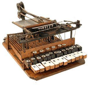 Il primissimo prototipo della macchina da scrivere di Giuseppe Ravizza