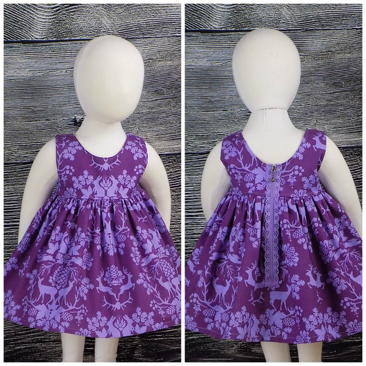 Girls, Purple Dress, Easter, Bunny, Rabbit, Spring, Woodland, Deer, Antlers, Sleeveless, Zipper, Party, Picture, School, Baby, Toddler, Teen by UniqueBoutiqueKathy on Etsy