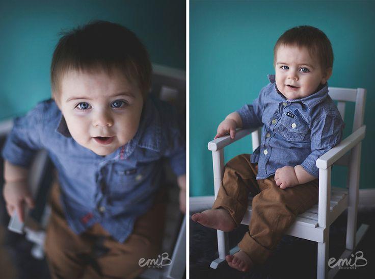One Year Portraits | teal | blue |  emiB  photography