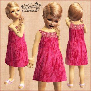 Kristina-Sims: Розовое платье для малышки
