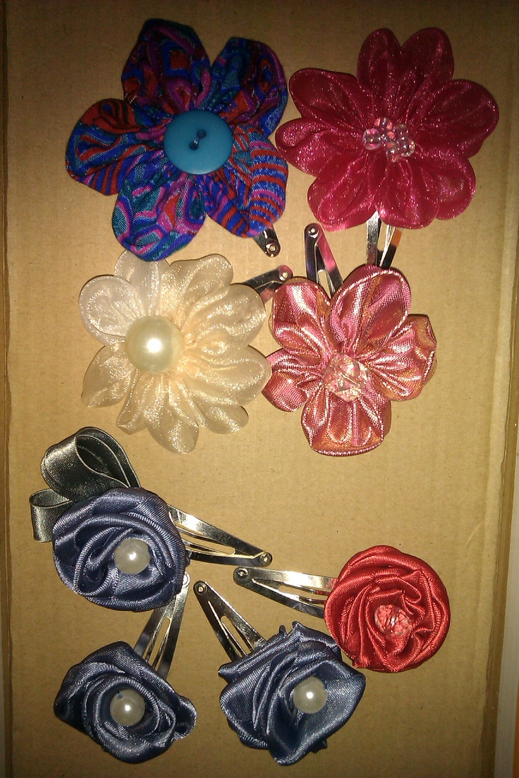 For the past 4 months I have been making fabric flowers,its fun and you will love it for sure!there are different ways to accessorise your flowers on snap clips and hair pins on headbands.the ideas are endless