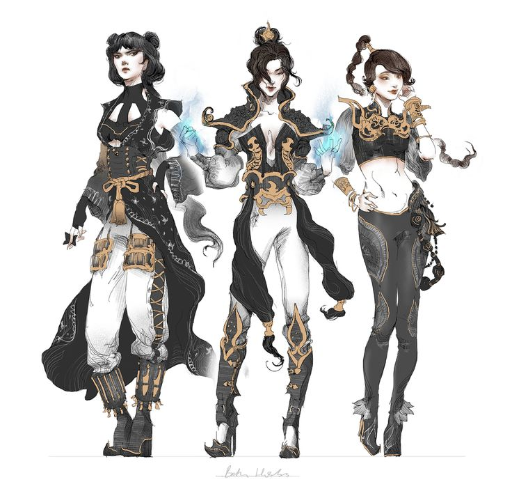 "wruzicka-reblogs: "" mindtheglow: "" Azula, Mai, Ty Lee Re-Designs by quargon ""…"