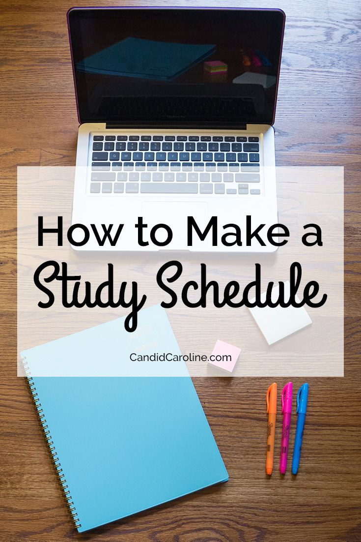 Making a study schedule is a quick and easy way to plan out your time during weeks when you can't afford to waste any!