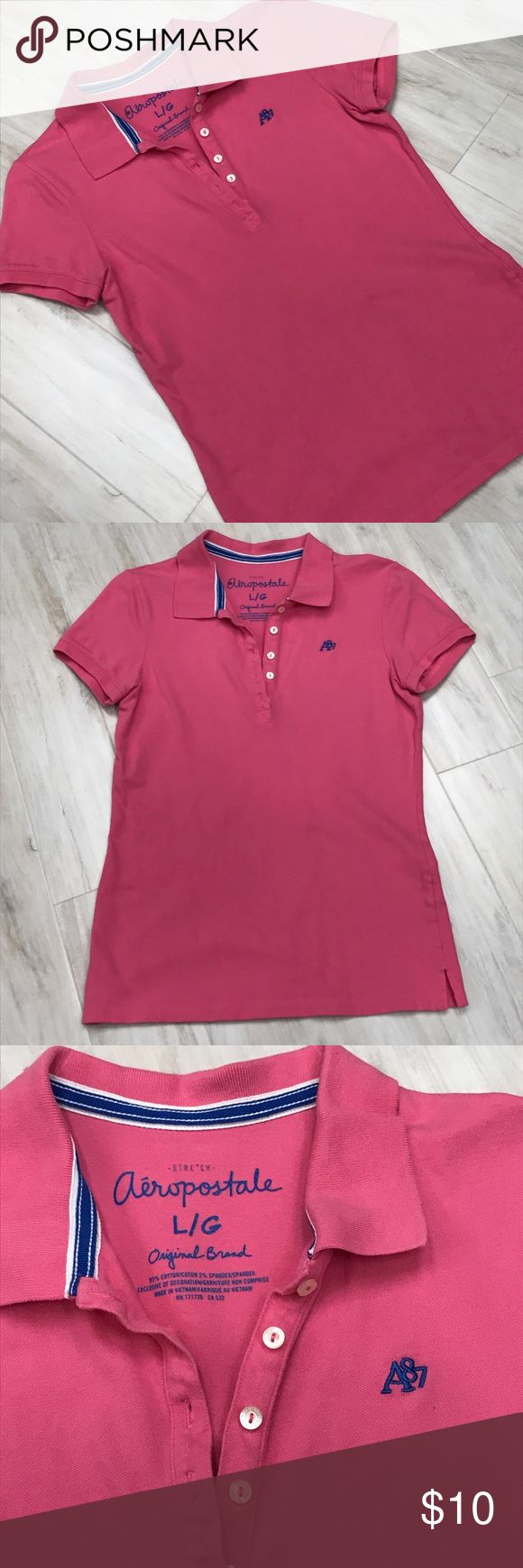 Aeropostale pink polo shirt Pink polo shirt Aeropostale Tops Tees - Short Sleeve