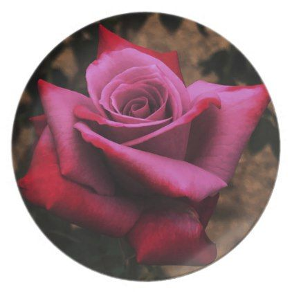 Antique Rose Plate - kitchen gifts diy ideas decor special unique individual customized