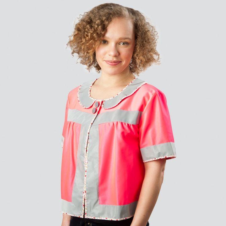 Reflektorjacke! Day Glow Doris Swing Jacket - Hi Viz Pink | Cyclechic | Cyclechic