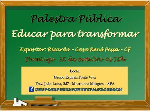 Grupo Espírita Fonte Viva Convida para a sua Palestra Pública - São Pedro da Aldeia - RJ - http://www.agendaespiritabrasil.com.br/2016/10/29/grupo-espirita-fonte-viva-convida-para-sua-palestra-publica-sao-pedro-da-aldeia-rj-8/