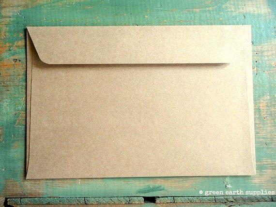 50 6x9 Kraft Envelopes: eco-friendly by GreenEarthSupplies on Etsy