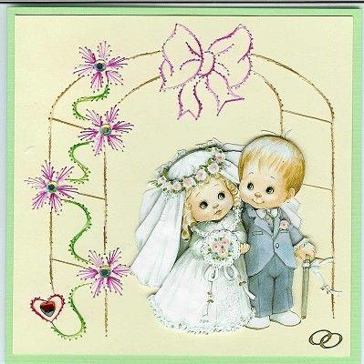 Voorbeeldkaart - Huwelijk van mijn Neef - Categorie: Borduren - Hobbyjournaal uw hobby website