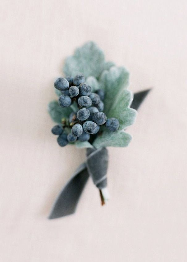 Winter berry boutonnière
