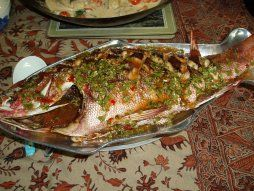 Thai fried fish (whole) with amazing garlic sauce.  I would eat this for breakfast!