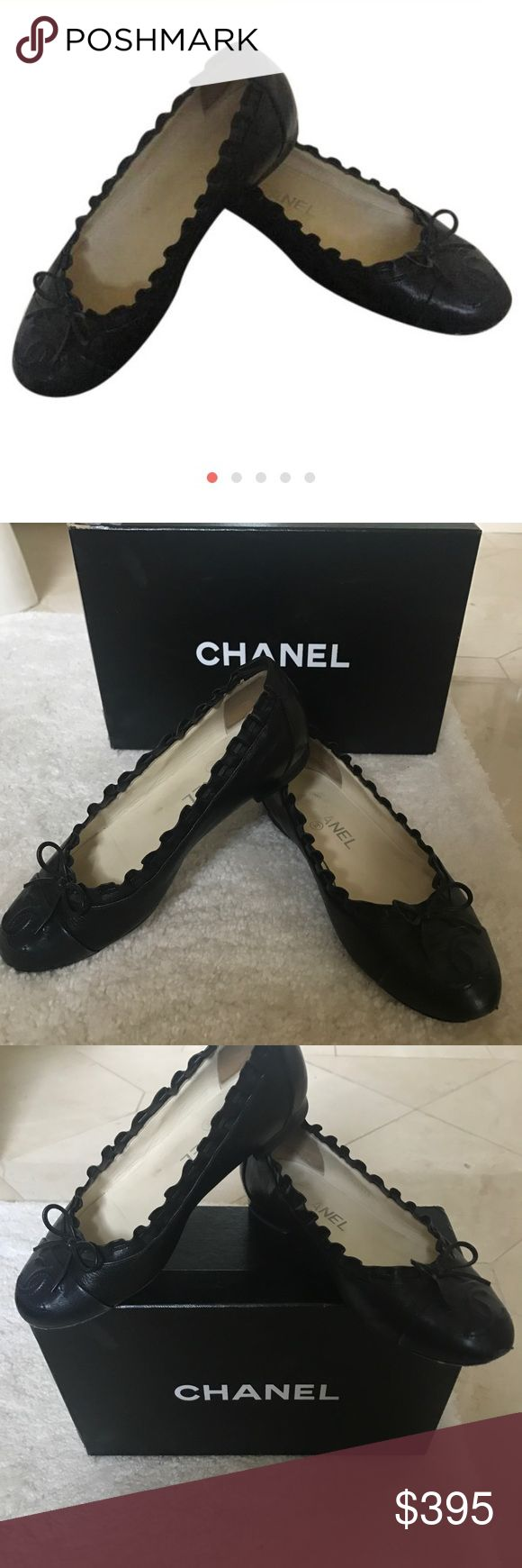 Chanel Ballerines Chanel Ballerines gently used scuff on soles CHANEL Shoes Flats & Loafers