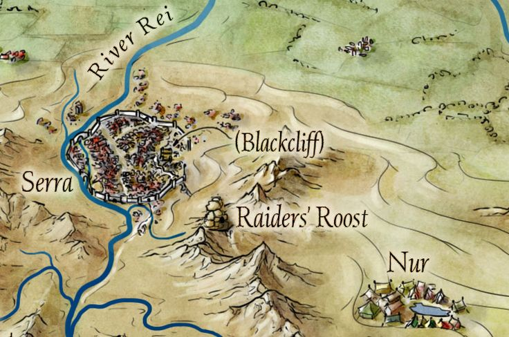Detail from my map of the Empire for the novel An Ember in the Ashes