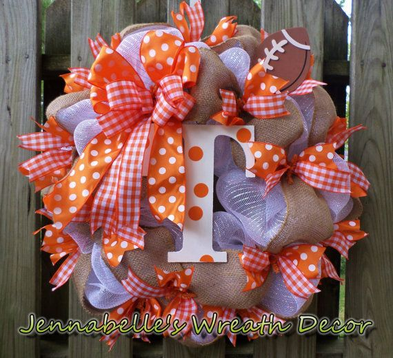 Go Vols! This is my rendition of a wreath that represents my love for BIG ORANGE! It has a bit less orange got those who love that for their decor!