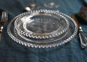 Assiette en verre (par 6) Perles Côté Table : Decoclico