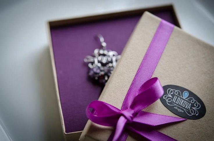ILDIKOVA silver earring in gift box wire wrapped silver earring