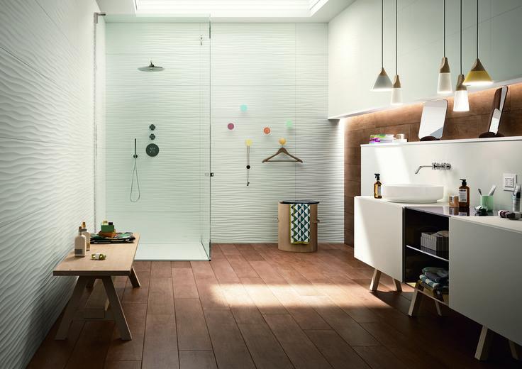 #Marazzi | #essenziale | #treverktime | #woodtiles | #bathroom | #floor | #walltiles