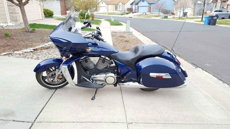 Used 2012 Victory CROSS COUNTRY Motorcycles For Sale in Colorado,CO. It is with deep sadness that I must sell my 2012 Imperial Blue Victory Cross Country. This bike is well cared for and all services have been performed by a Victory dealership. Riding gear can be included depending on need. I am asking for $12,500 for this gem of a bike. Please inquire for more pictures or information. Thanks! 2012 Victory Cross Country 1731CC (106 cu in) w/ ABS brakes 8669 Miles Specs…