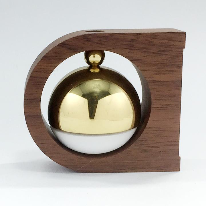 ドアベル 高岡銅器 もりのね 丸 ウォールナット 小泉製作所