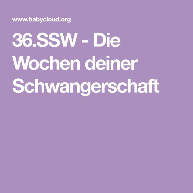 36.SSW - Die Wochen deiner Schwangerschaft