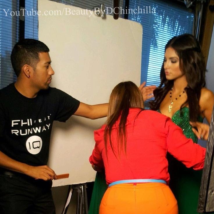 Univision Miami, giving Alejandra Espinoza the Fall Trends with my FHI Heat Tools!!