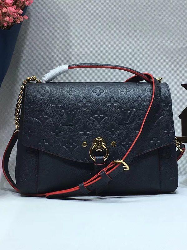 b90b18205e Louis Vuitton Monogram Empreinte Blanche BB Marine Rouge M43781 ...