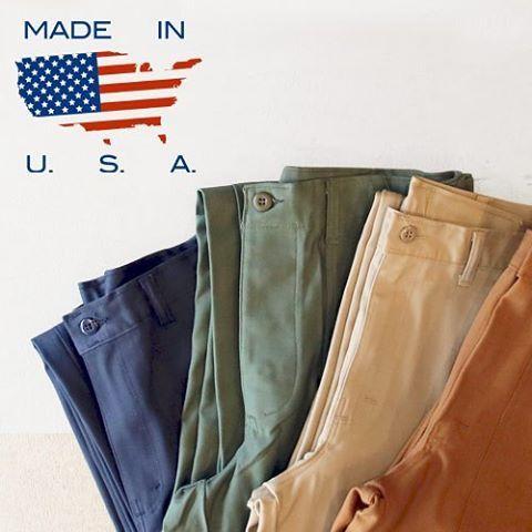 MADE IN USA [ http://www.aud-inc.com/product-group/123 ]  MADE IN USAだからこそ味わえる、質実剛健な味わい  古くからアメリカの労働者とともに合った、アメリカのマスプロ製品。その血統はワークウェアから転じるファッションとして日本にも息づいています。  オーダーメイドの一品物とは真逆を行く、大量生産だからこそ生まれる、シンプルで質実剛健な作りはアメリカ製でなければ味わえない独特の味を持っています。  その米国製製品をデッドストックから、別注などの新製品まで幅広くラインナップ。  無駄を廃したからこそ生まれる美学は、他にはない味わいを魅せてくれます。   #madeinusa #高円寺 #アメリカ製 #米国製 #パンツ #ミリタリー #デッドストック #ダック #別注 #グッズ #手袋 #カットソー #カジュアル #メンズ #mens #レディース #ladys #東京 #オーディエンス #style #fashion #NowAvailable