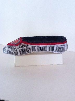 Soulier porte-bijoux papier blanc rouge et noir  No. 0632