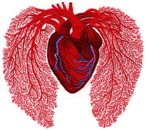 embroidered heart. kinda cool in a geeky kinda way