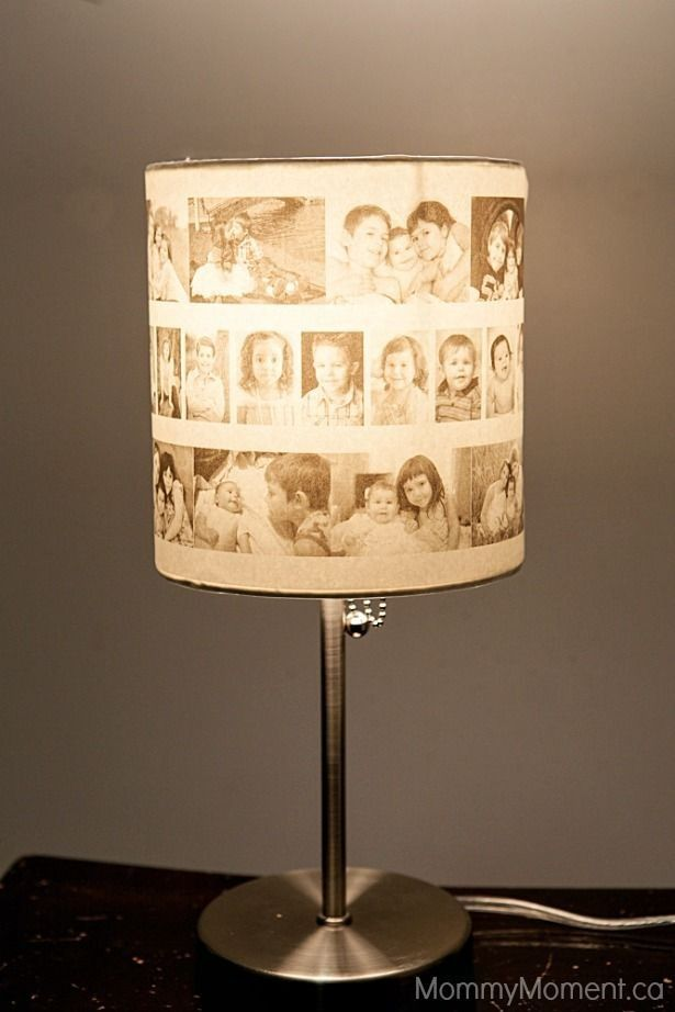 Diy pictures paper lamp shade crafts with sliver lampstand - lamp shade, diy paper ideas