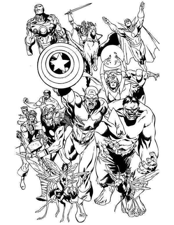 Marvel Coloring Pages Avengers Coloring, Avengers Coloring Pages, Superhero  Coloring Pages