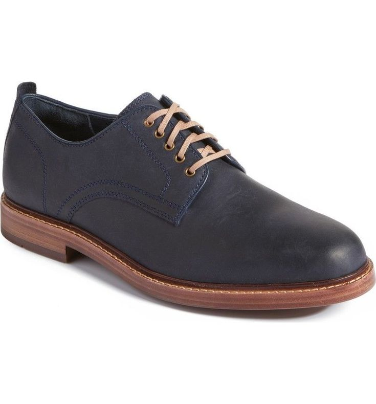 Cole Haan Tyler Grand Plain Oxfords Marine Blue Wax Men's Dress Shoe 12M NIB  | eBay