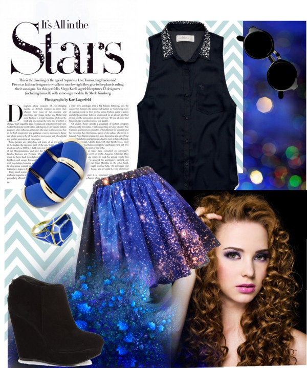 """""""look at me No.4 : twingle little star"""" by fah-zhao-pptk ❤ liked on Polyvore"""