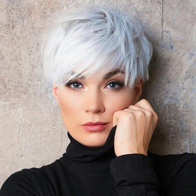 10 Stylish Short Haircuts & Short Hair Color Ideas for Women 2021-2022 in 2021 | Short hair haircuts, Short white hair, Short silver hair