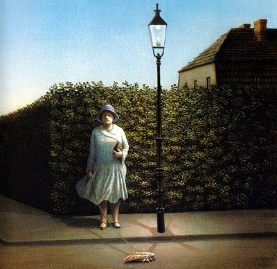 Michael Sowa - Woman with Moth