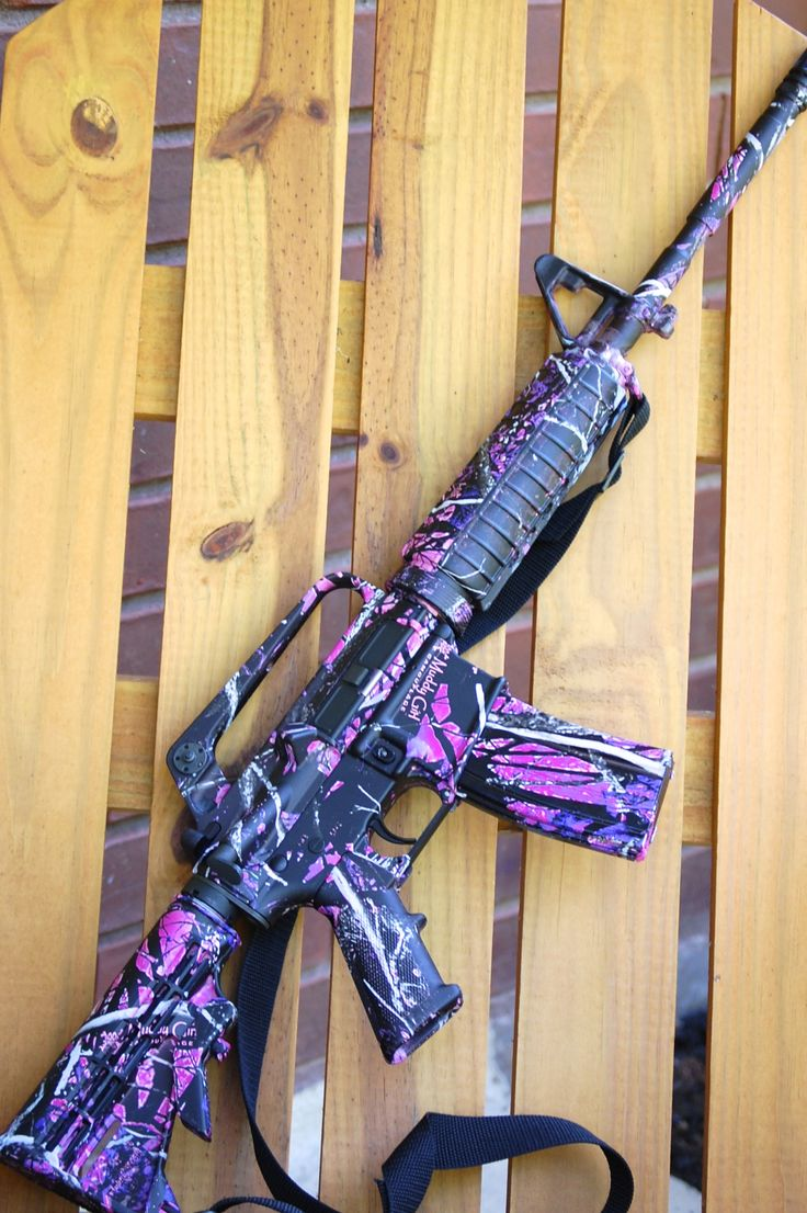 Bushmaster AR 15 in Muddy Girl Print!  Way more fun than just a few pink pieces!