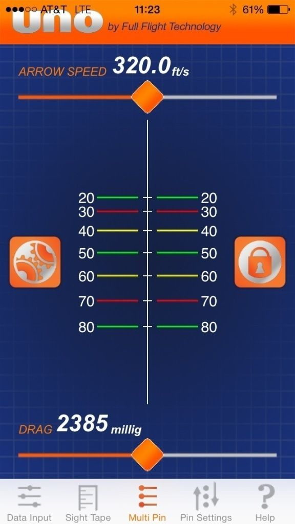 Set your bow sight up with your smart phone with the UNO app from Full Flight Technology.