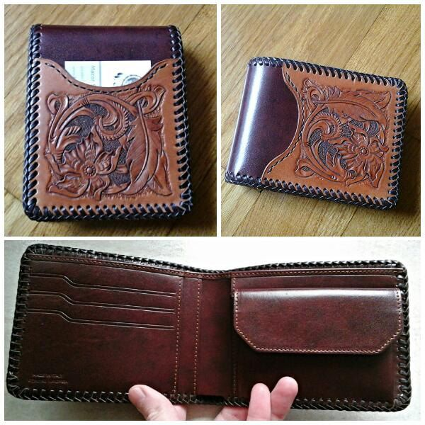 Portafoglio in pelle  stile country - Man Wallet di DreamleatherShop su Etsy