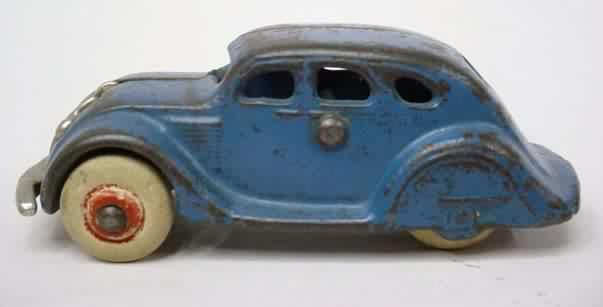 Antique Blue Toy Car.  Looks like dad's old toy....