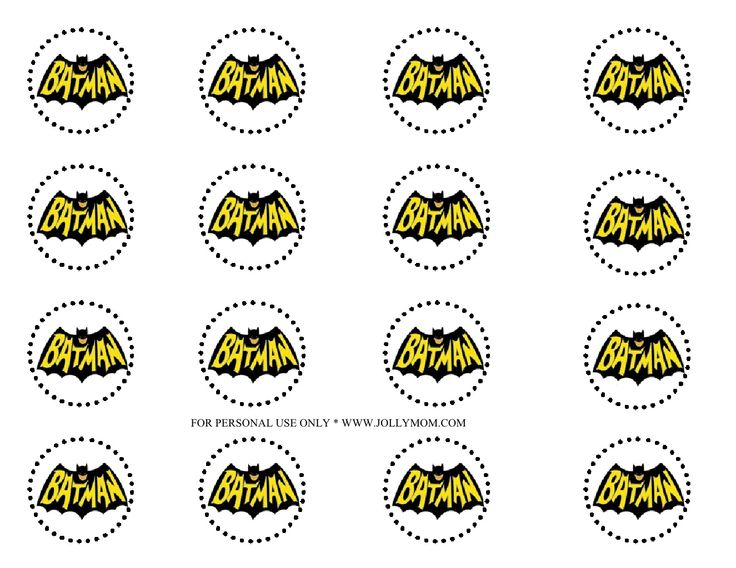 Superhero cupcake toppers by jollymom via slideshare